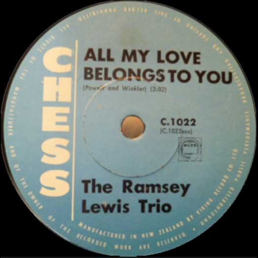 Chess C-1022 record label, The Ramsey Lewis Trio