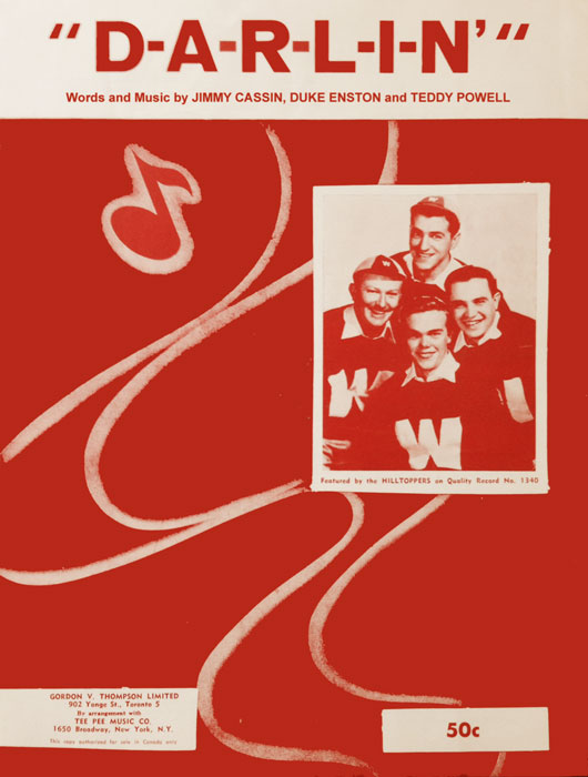 DARLIN-Sheetmusic, The Hilltoppers