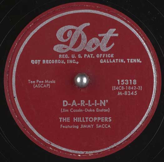 Dot 15318 record label, The Hilltoppers