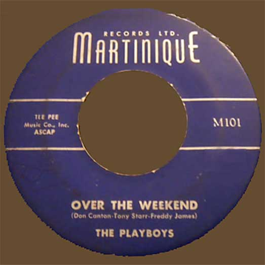 MartiniquE M101 record Label, The Playboys