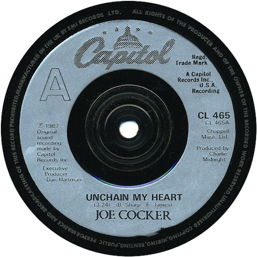 Unchain my Heart-Capitol CL 465 record label, Joe Cocker